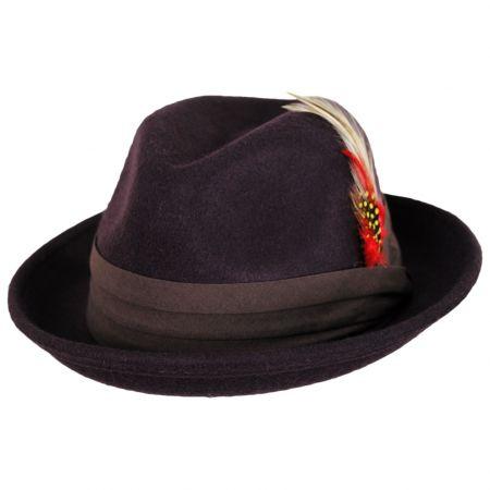 Kid's Blues Crushable Wool Felt Trilby Fedora Hat alternate view 9