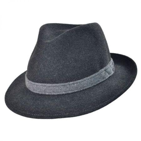 Packable Wool Felt Fedora Hat
