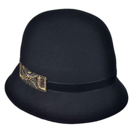 Scala Bead Decor Cloche Hat
