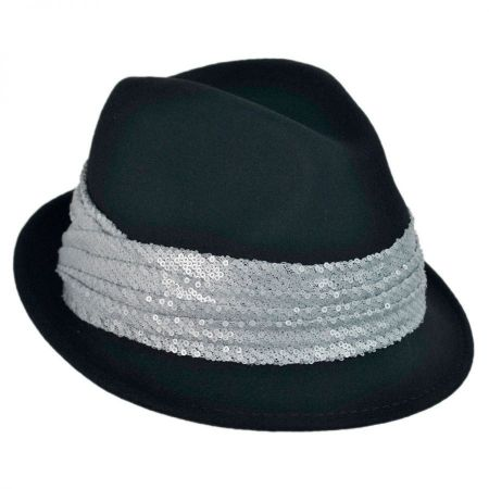 Scala Sequin Hatband Fedora Hat