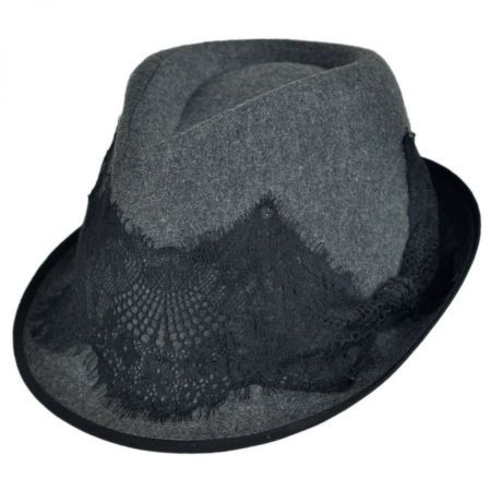 Lace Hatband Fedora Hat