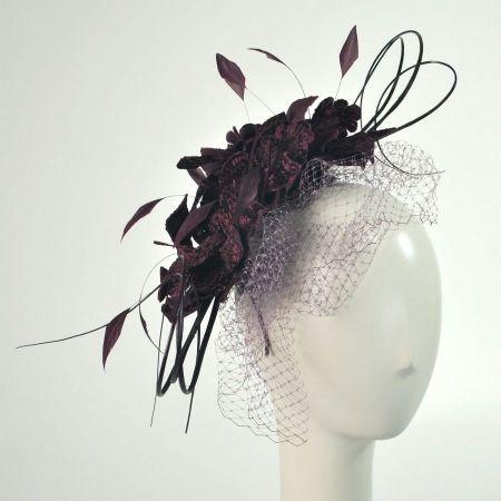 Velvet Flowers and Quills Fascinator Headband