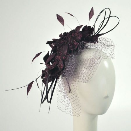 Emma B by Giovannio Velvet Flowers and Quills Fascinator Headband