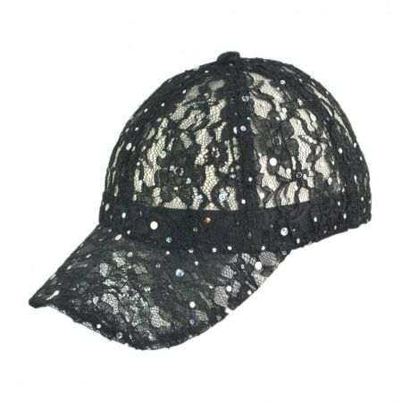 Something Special Lace and Sequin Adjustable Baseball Cap