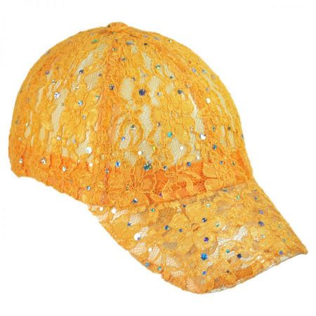 Lace and Sequin Adjustable Baseball Cap