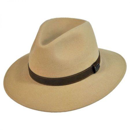 Borsalino Laredo Fur Felt Safari Fedora Hat