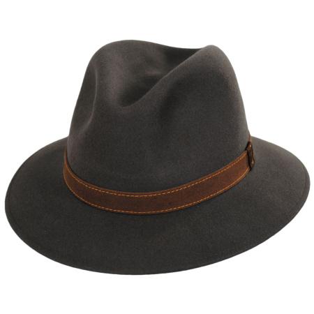 Traveler Fur Felt Fedora Safari Hat