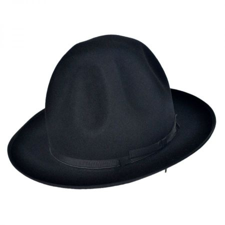 Borsalino F.A.B. Shapeable Open Crown Fedora Hat