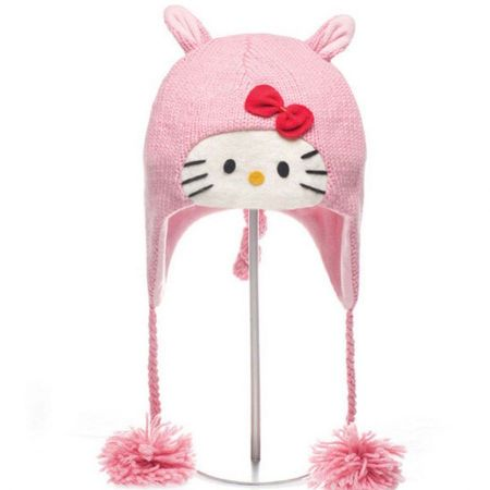 Hello Kitty Piggy Peruvian Beanie Hat