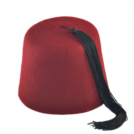 B2B Black Fez with Black Tassel