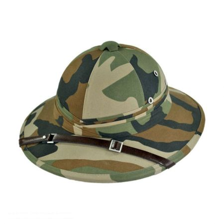 B2B French Pith Helmet (Forest Camo)