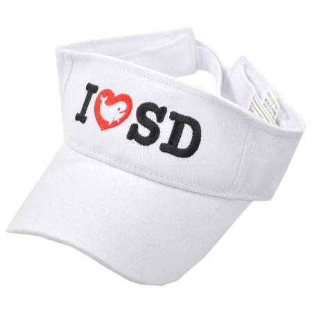 B2B I Love SD Whale Cotton Adjustable Visor