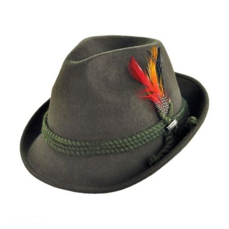 B2B Jaxon Alpine Wool Felt Fedora Hat