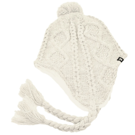 B2B Jaxon Cable Knit Peruvian Beanie Hat (Off White)