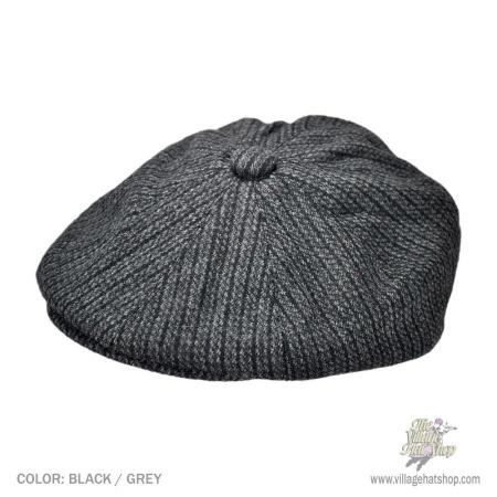 B2B Jaxon Chainlink Wool Blend Newsboy Cap