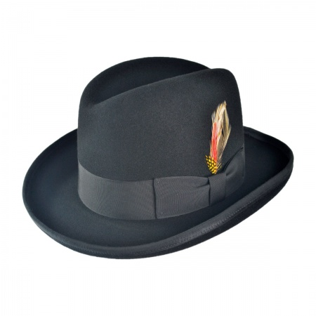B2B Jaxon Classics Godfather Hat - Made in the USA (Black)