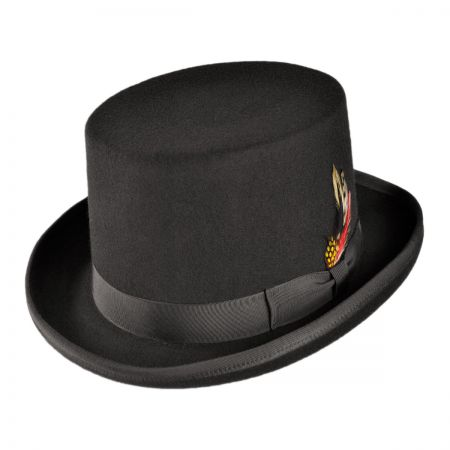 B2B Jaxon Made in the USA - Classics Wool Felt Top Hat (Black)