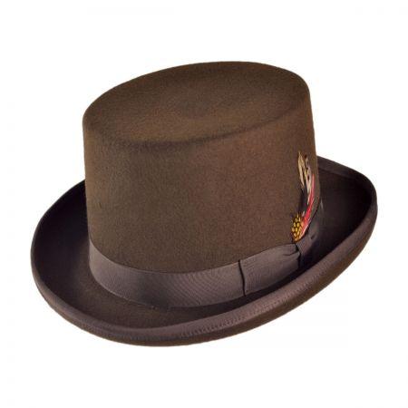 B2B Jaxon Made in the USA - Classics Wool Felt Top Hat (Brown)