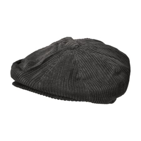 B2B Jaxon Corduroy Wide Wale Newsboy Cap (Black)