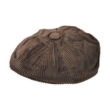 B2B Jaxon Corduroy Wide Wale Newsboy Cap (Brown)