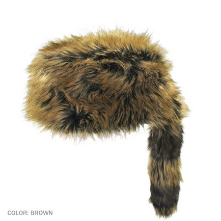 B2B Jaxon Crockett Coonskin Cap (Brown)