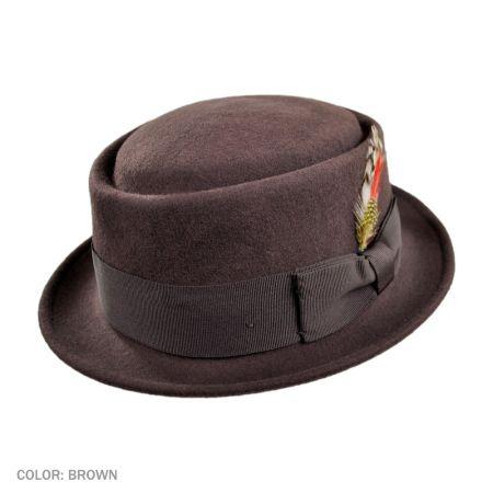 B2B Jaxon Crushable Pork Pie Hat (Brown)