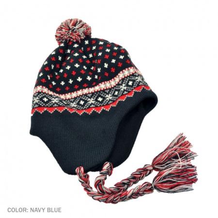 B2B Jaxon El Toro Peruvian Beanie Hat (Navy Blue)