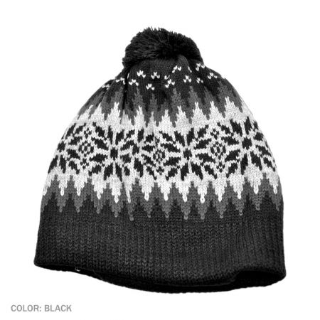 B2B Jaxon Fair Isle Beanie Hat (Black)