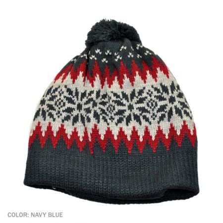 B2B Jaxon Fair Isle Beanie Hat (Navy Blue)