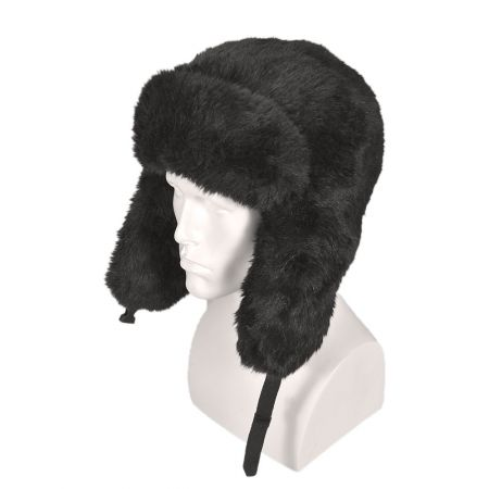 B2B Jaxon Faux Fur Trapper Hat (Black)