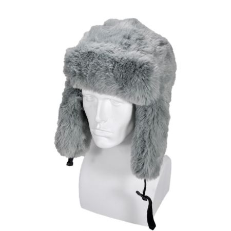 B2B Jaxon Faux Fur Trapper Hat (Grey)