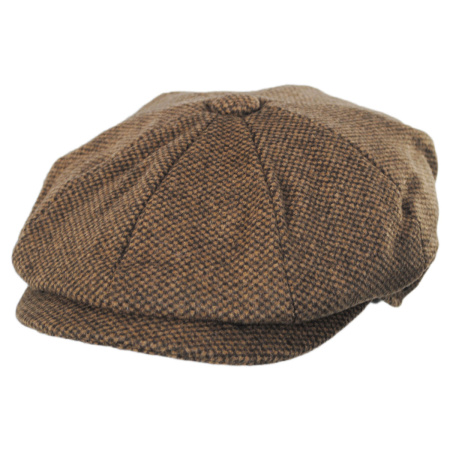 B2B Jaxon Gotham Newsboy Cap (Tan/Brown)