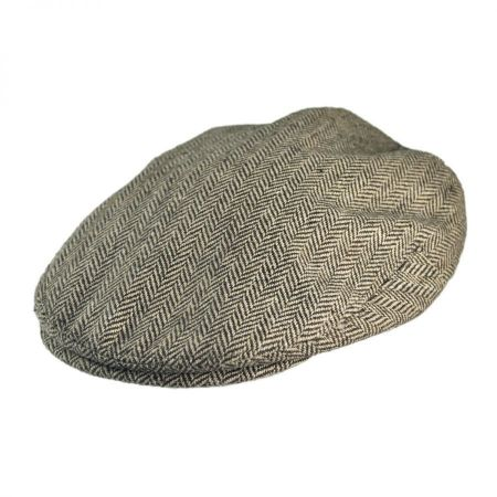 B2B Jaxon Herringbone Wool Blend Ivy Cap