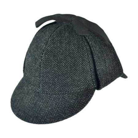 6c7fed22629 B2B Jaxon Sherlock Holmes Herringbone Wool Blend Hat Historical Hats