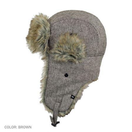 B2B Jaxon Herringbone Trapper Hat (Brown) - Master Carton