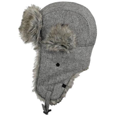 7fb08eee893 B2B Jaxon Grey Herringbone Trapper Hat Trapper Hats
