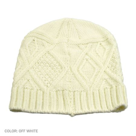 B2B Jaxon Kensington Beanie Hat (Off White)
