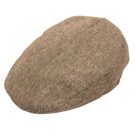 B2B Jaxon Marl Tweed Ivy Cap (Brown)