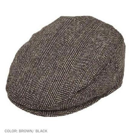 B2B Jaxon Mix Herringbone Wool Blend Ivy Cap