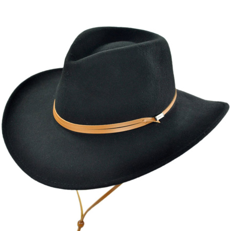 B2B Jaxon Outback Hat with Chincord (Black)