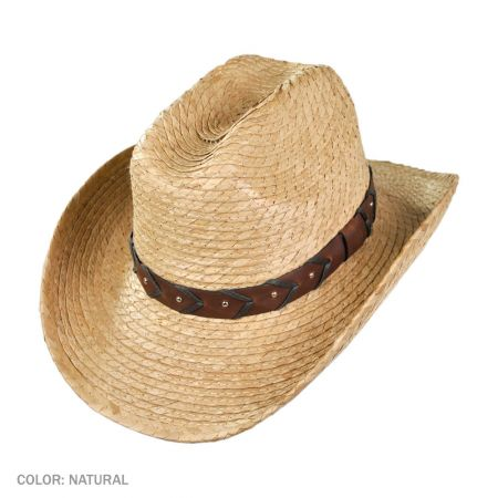 B2B Jaxon Palm Cattleman Cowboy Hat (Natural)
