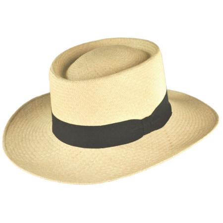 B2B Jaxon Cuenca Panama Straw Gambler Hat
