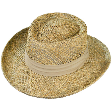 B2B Jaxon Pebble Beach Gambler Hat (Seagrass)