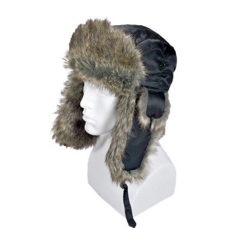 B2B Jaxon Rain Resistant Trapper Hat (Black)