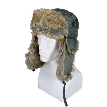 B2B Jaxon Rain Resistant Trapper Hat (Olive Green)
