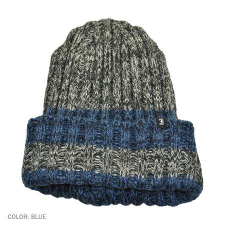 B2B Jaxon Ravi Ribknit Beanie Hat (Blue)