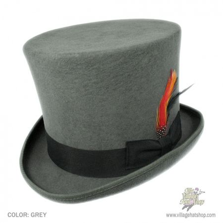 B2B Jaxon Victorian Top Hat (Grey)