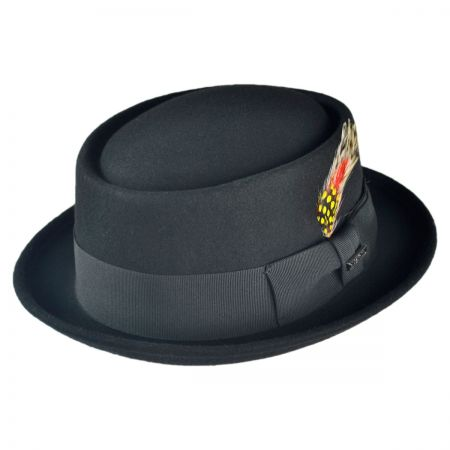 B2B Jaxon Wool Pork Pie Hat (Black)