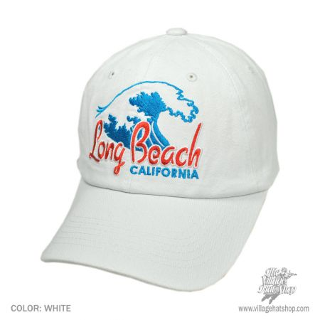 B2B Long Beach California Waves Baseball Cap (White)