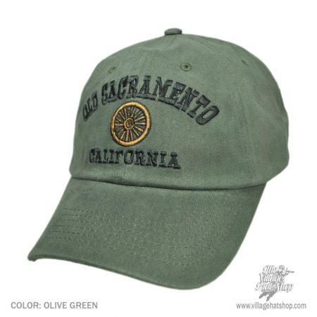 B2B Old Sacramento Wheel Baseball Cap (Olive)